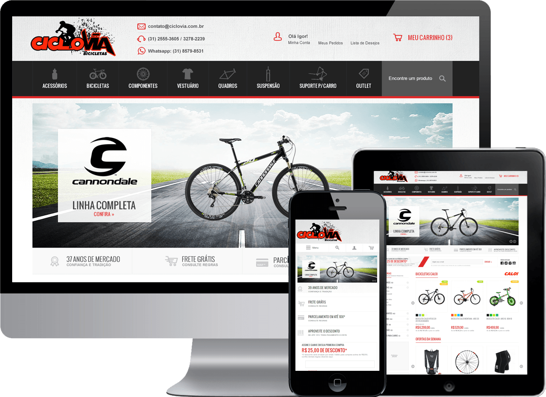 Loja Virtual Magento Responsivo - Ciclovia Bicicletas